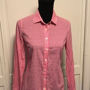 J.CREW THE PERFECT SHIRT SZ-4 Pink/White